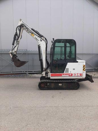 Minikoparka Bobcat 334 szybkozłącze 3 łyżki    4500mtg