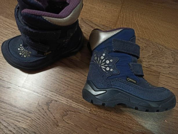 Зимние ботинки сапоги сапожки зимові чобітки ecco экко 22 р 14 см