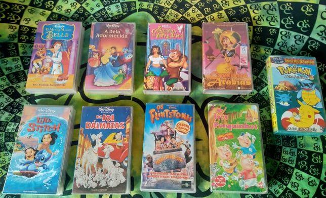 Cassetes VHS disney originais (51 cassetes)