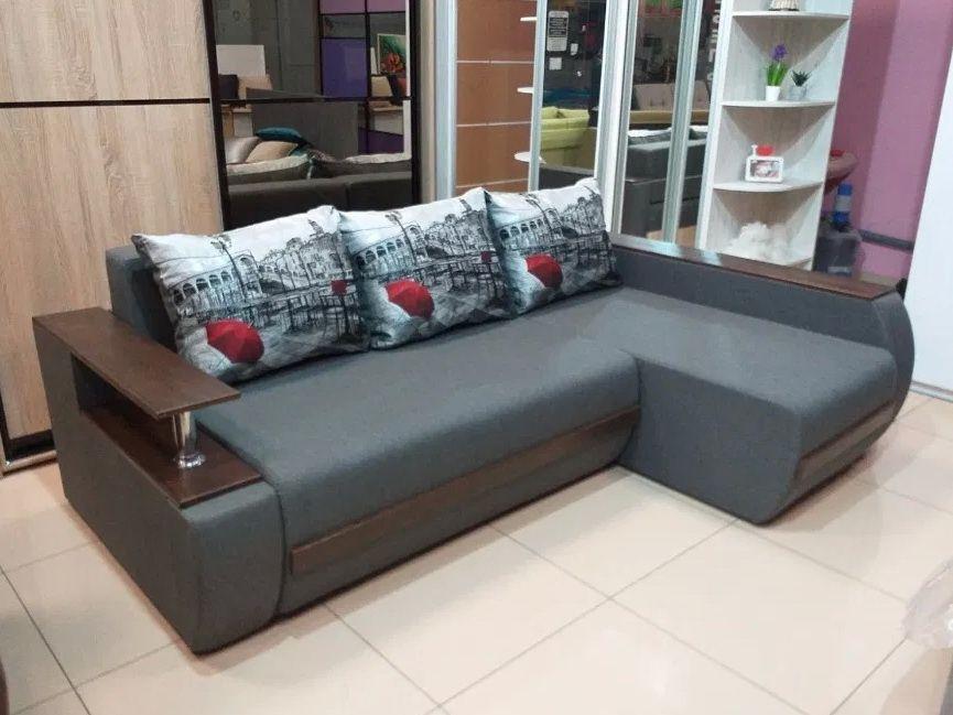 Диван кровать Угловой Грейс7 160х200 с Баром Мягкая мебель Одесса