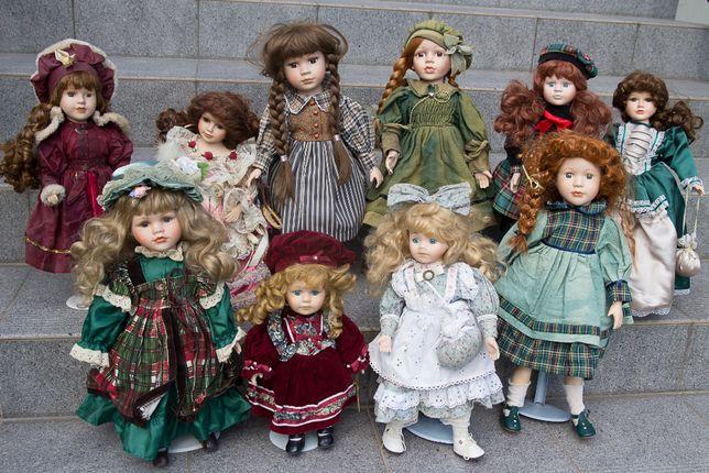 Sprzedam kolekcję - Lalki z Porcelany - Zadbane i czyste - 10 sztuk !
