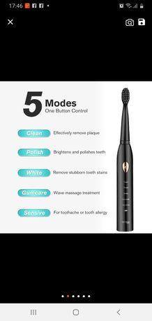 Зубная электрическая зубная щетка, ультразвуковая, водонипроницаемая