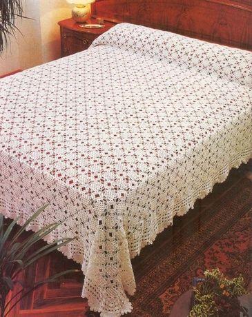 Colchas em crochet novas