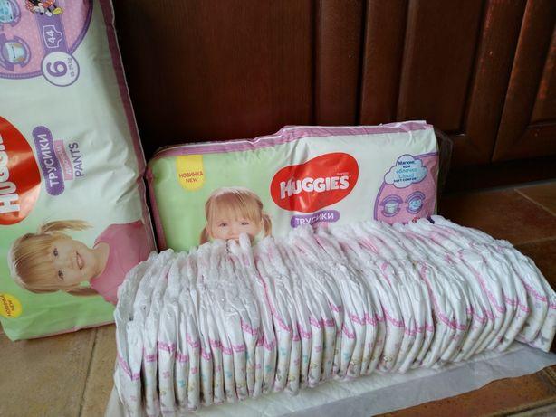 Подгузники трусики для девочек Huggies Pants 6 44 шт