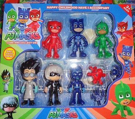 pack pj masks com 9 figuras de 10 cm novo e embalado