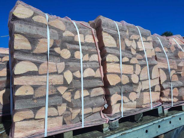 Drewno Opałowe Kominkowe Buk, Dąb, Sosna [Paleta] Transport