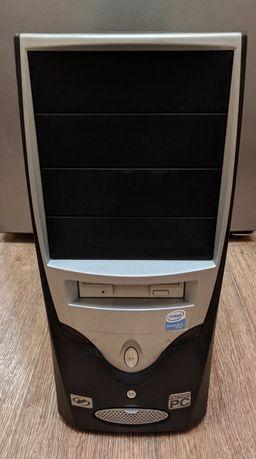 Компьютерный корпус ATX с 2 кулерами, блоком питания, наклейкой WinXP
