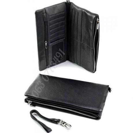 Мужской кожаный кошелек клатч портмоне барсетка 08103