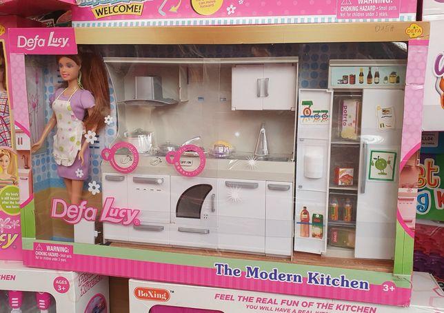 Набор для барби кухня с куклой барби домик куклы барби кукольный домик
