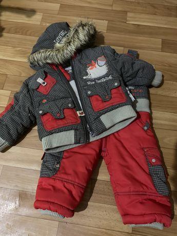 Детский зимний костюм комбинезон