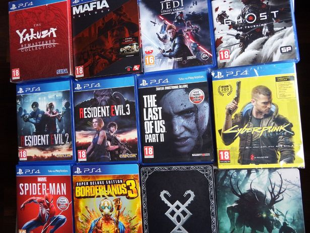 PS4 / PS5 Cyberpunk Ghost Of Tsushima LOU 2 Wiedźmin 3 Spider-Man