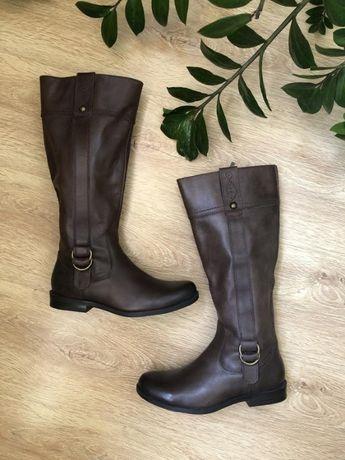 Стильные кожаные сапоги 24 см Footglove