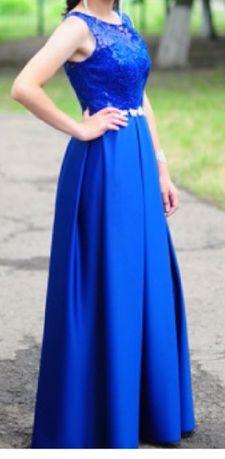 Платье вечернее прекрасная синева