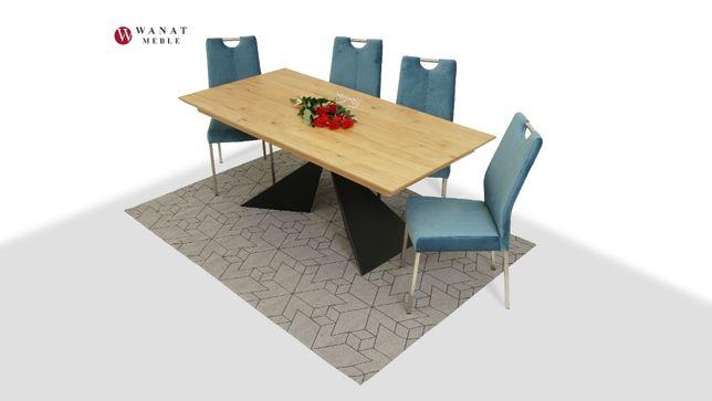 Nowoczesny Stół Rozsuwany + 4 Krzesła Tkanina