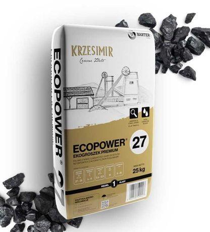Ekogroszek KRZESIMIR Eco Power 27 MJ dostawa HDS! worki 25kg
