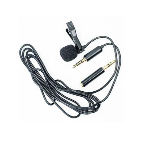 Микрофон петличка Andoer EY-510A для смартфона камеры ПК + переходник