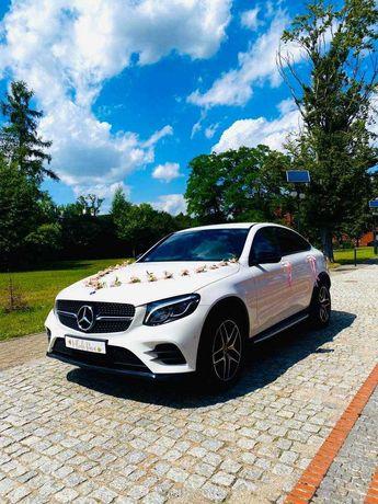 Auto Samochód do ŚLUBU. Mercedes GLC Coupe, wynajem ślub auto