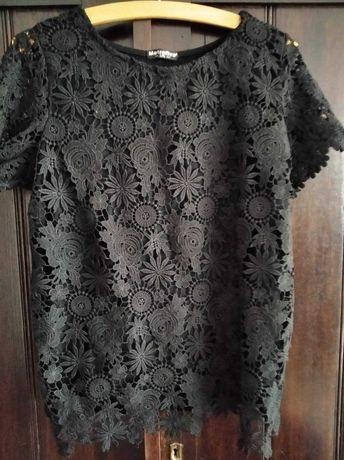 Czarna bluzeczka koronkowa