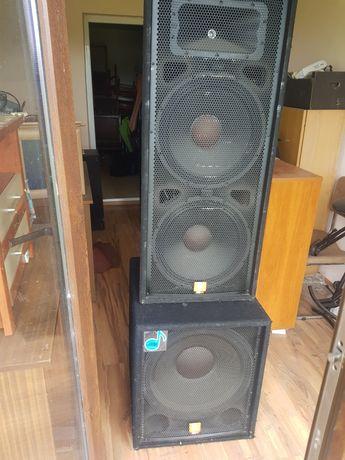 Zestaw 2xJBL 125 , sub jbl 118, końcówka Yamaha P3200 mix Mackie