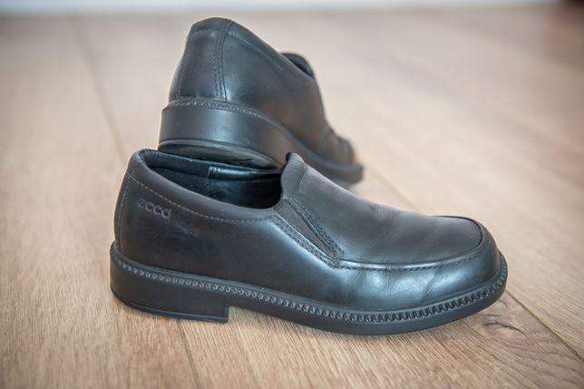 Ecco туфли на мальчика Кожа черные