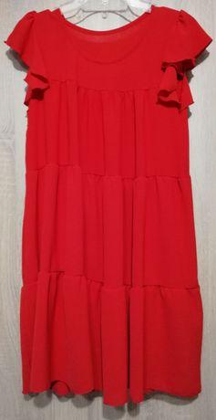 Czerwona sukienka ciążowa