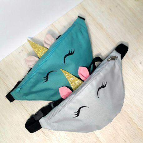 Детская поясная сумка, сумка единорог для детей, детская бананка