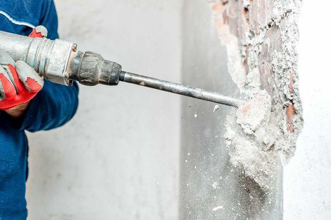 Wyburzanie ścian, skuwanie tynków, terakoty, posadzek, wywóz gruzu