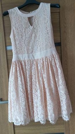 Sukienka m/l, kolor łososiowy