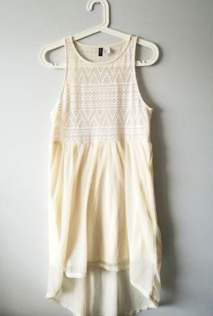 Kremowa sukienka boho H&M 36
