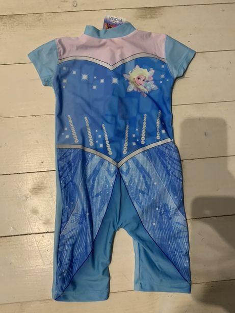 Strój kąpielowy ubranko uv Elsa Kraina Lodu 92/98