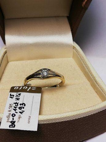 Złoty pierścionek z brylantem 585/0,11ct Nowy Lombard Zeus