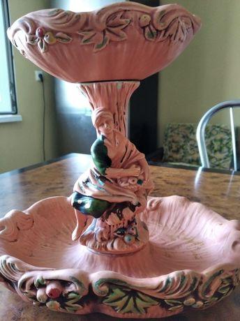 Винтажная фруктовница-штоф,лёгкая керамика,высота 24см,ширина 24 см