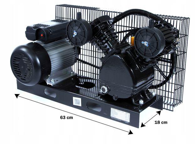 Sprężarka z silnikiem pompa powietrza 2Tłoki 65mm 360l/min