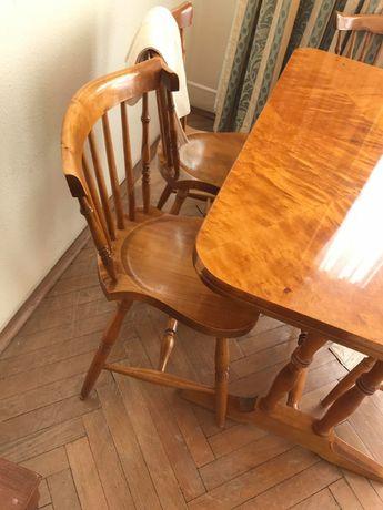 Stół, krzesła do jadalni - czeczot, brzoza