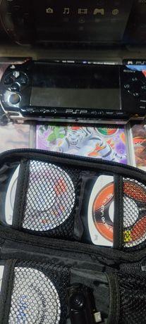 PSP PlayStation + jogos + bolsa