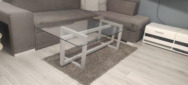 Duży stolik kawowy z blatem szklanym kolor dowolny Nowy