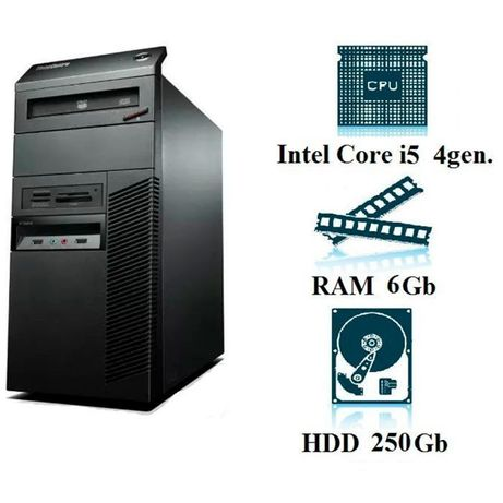 Компьютер, системный блок, ПК, Core I7, 4470, 8 ядер, 6 ОЗУ, 250 HDD