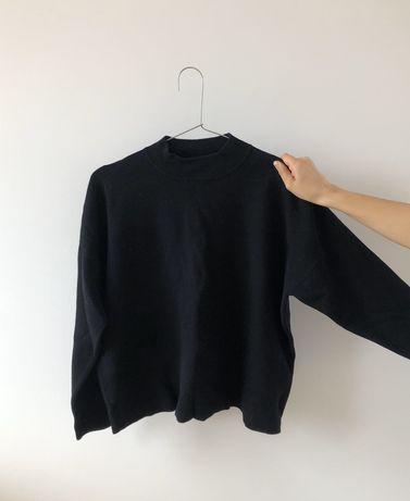 H&m sweter czarny dzianina S