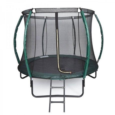 Батут с защитной сеткой и лестницей Maximal Safe 8ft (252cм)