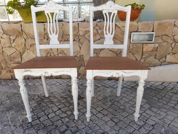 2 cadeiras pintadas decape