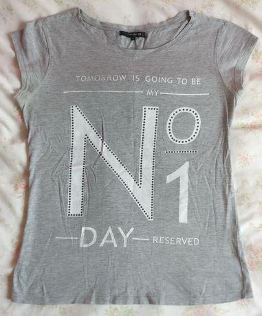 Bluzka t-shirt szara Reserved M