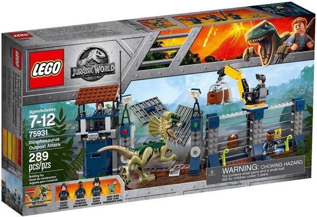 Lego Jurassic World Нападение Дилофозавра на сторожевой пост 75931