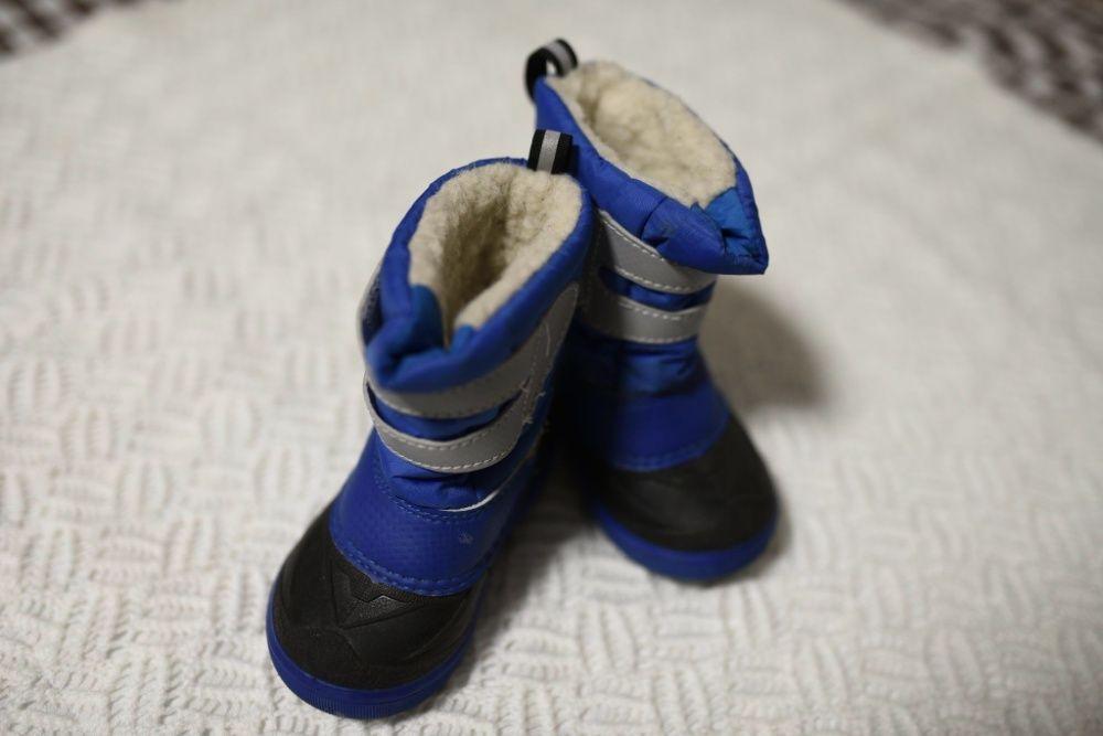 20-21 Зимние сапожки Demar на овчине синие для мальчика Харьков - изображение 1
