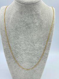 Złoty łańcuszek 18k kostka