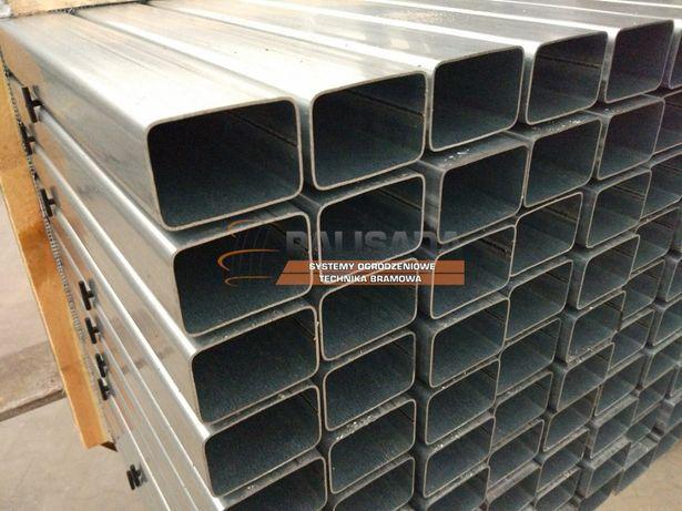 PROFIL, PROFILE OCYNKOWANE 60x40 x 1,25 mm - słupek ocynkowany - 6X4CM