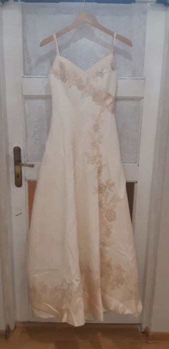 Suknia ślubna długa ecru 38 Bielsko-Biała - image 1