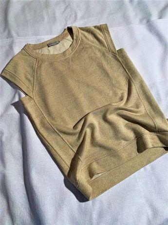Женский золотой топ Moncler р.S футболка блуза Loro Piana MaxMara