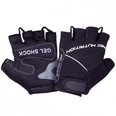 Rękawice GEL SHOCK czarnedo treningu na siłowni -TRECK(Gratis smycz )
