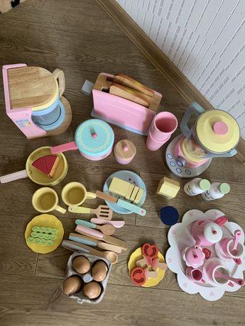 Посудка деревянная детская кухня Kid Kraft