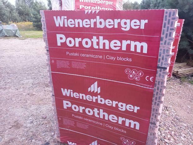 Pustak ceramiczny Wienerberger porotherm 25 P+W kl.15 A